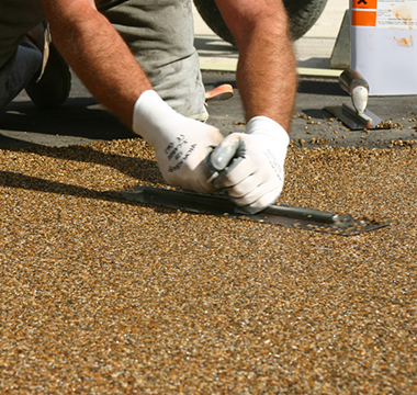 resin bound surfacing application