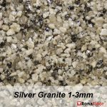 ronafloor stone carpet silver granite 1-3mm