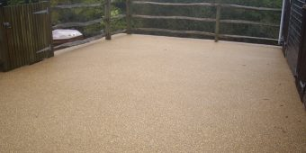 ronadeck resin bound surfacing stables