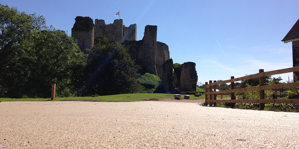 ronadeck resin bound surfacing conisbrough castle