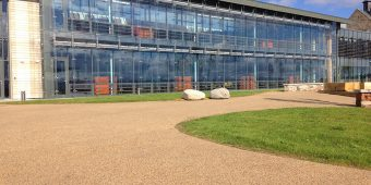 ronadeck resin bound surfacing office redevelopment