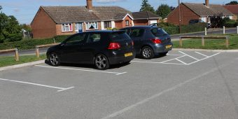 ronadeck resin bound surfacing residential car park